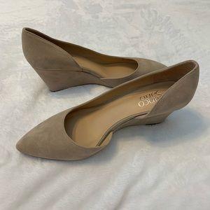 Franco Sarto suede wedge shoes. 8